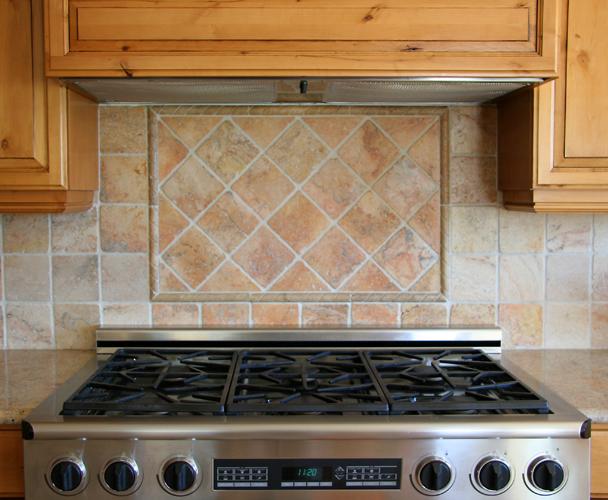 Hegle tile kitchens tile backsplash medallions and for Kitchen backsplash medallion