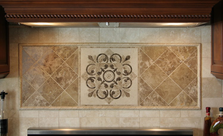 Hegle Tile: Kitchens. Tile Backsplash, Medallions And
