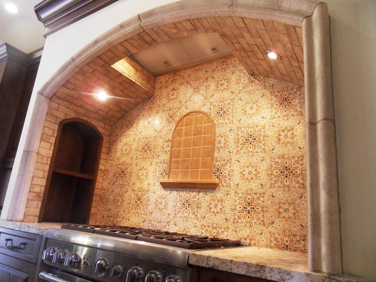 Hegle tile kitchens tile backsplash medallions and listelles - Kitchen backsplash medallion ...